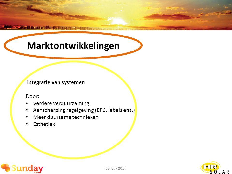 Marktontwikkelingen Integratie van systemen Door: