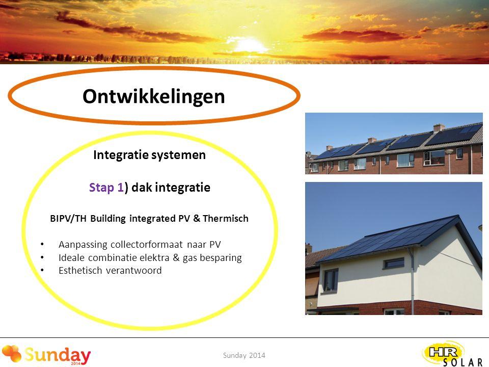 Ontwikkelingen Stap 1) dak integratie Integratie systemen