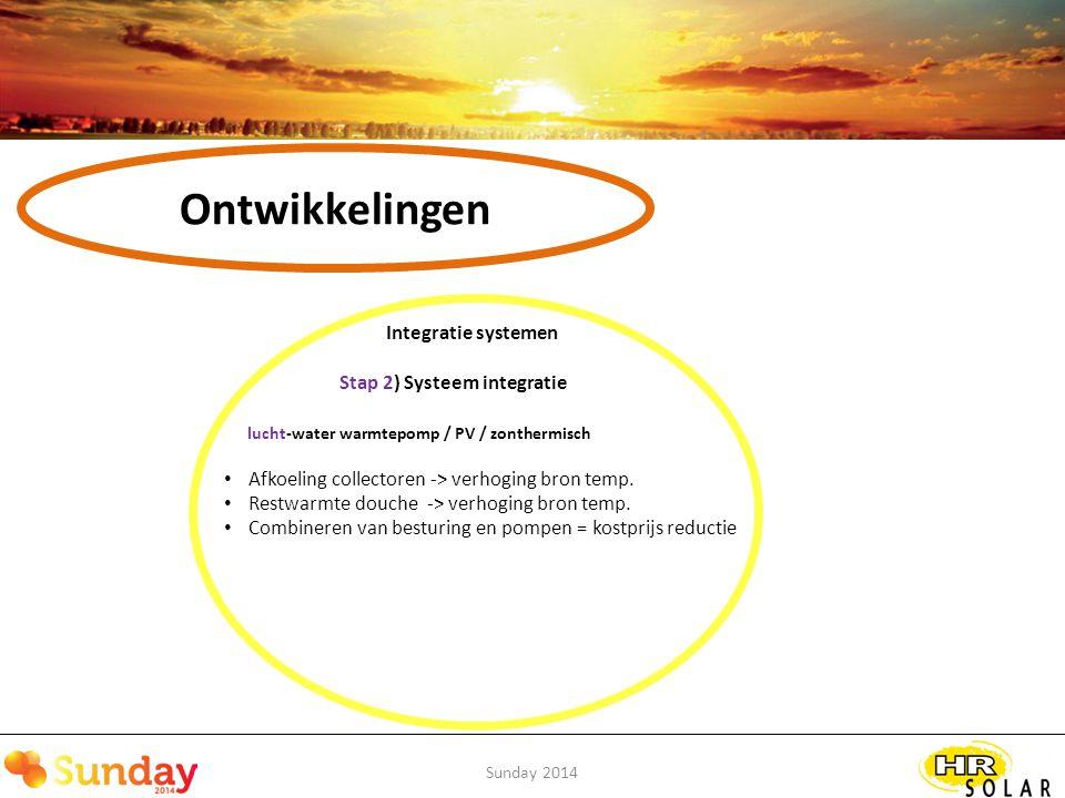 Ontwikkelingen Integratie systemen Stap 2) Systeem integratie