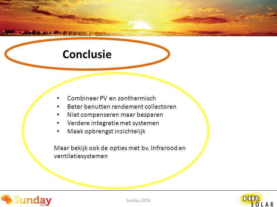 Conclusie Combineer PV en zonthermisch