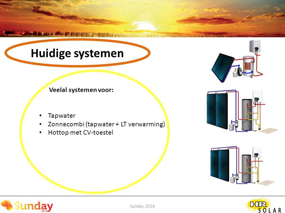 Huidige systemen Veelal systemen voor: Tapwater