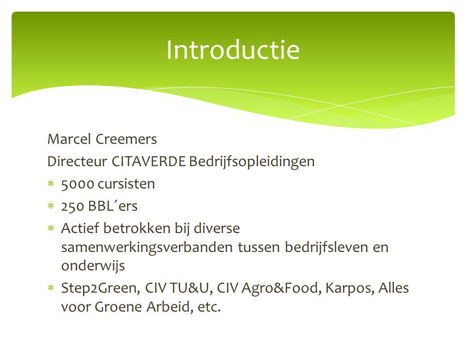 Introductie Marcel Creemers Directeur CITAVERDE Bedrijfsopleidingen