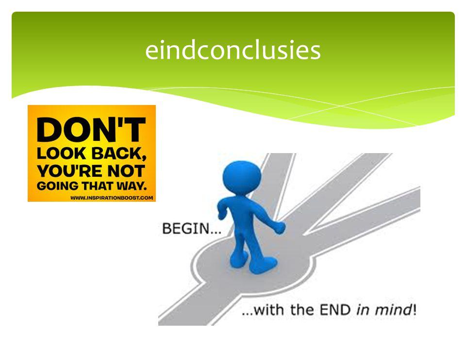 eindconclusies