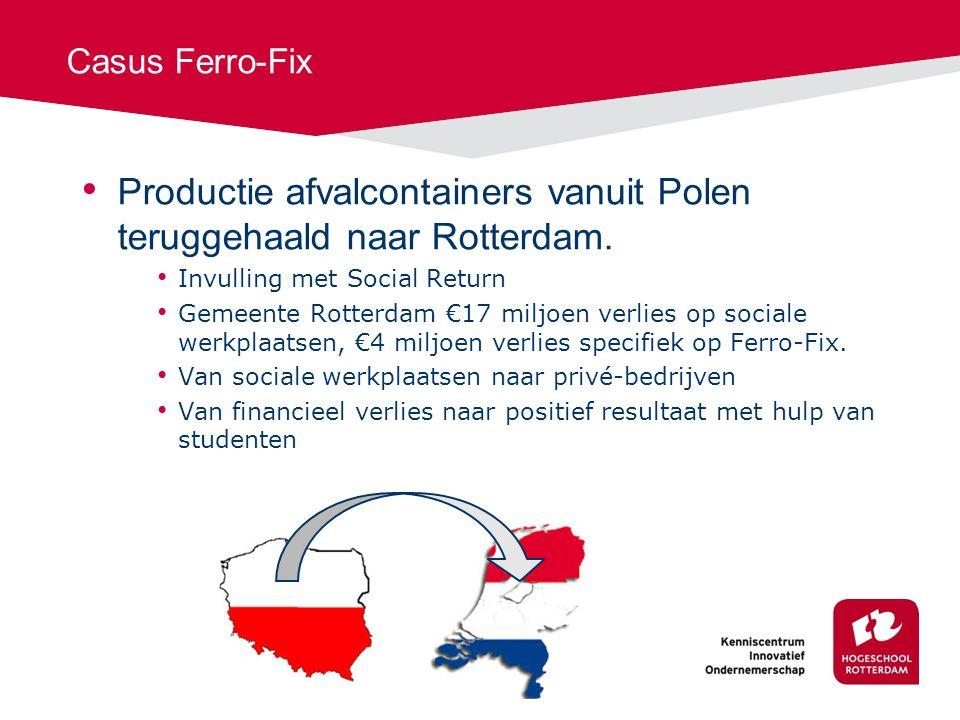Productie afvalcontainers vanuit Polen teruggehaald naar Rotterdam.