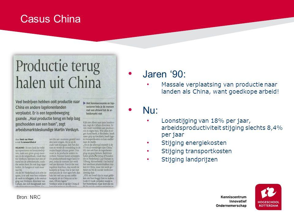 Casus China Jaren '90: Nu: