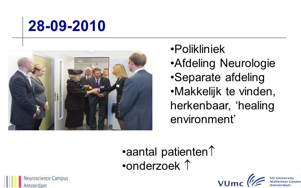 28-09-2010 Polikliniek Afdeling Neurologie Separate afdeling