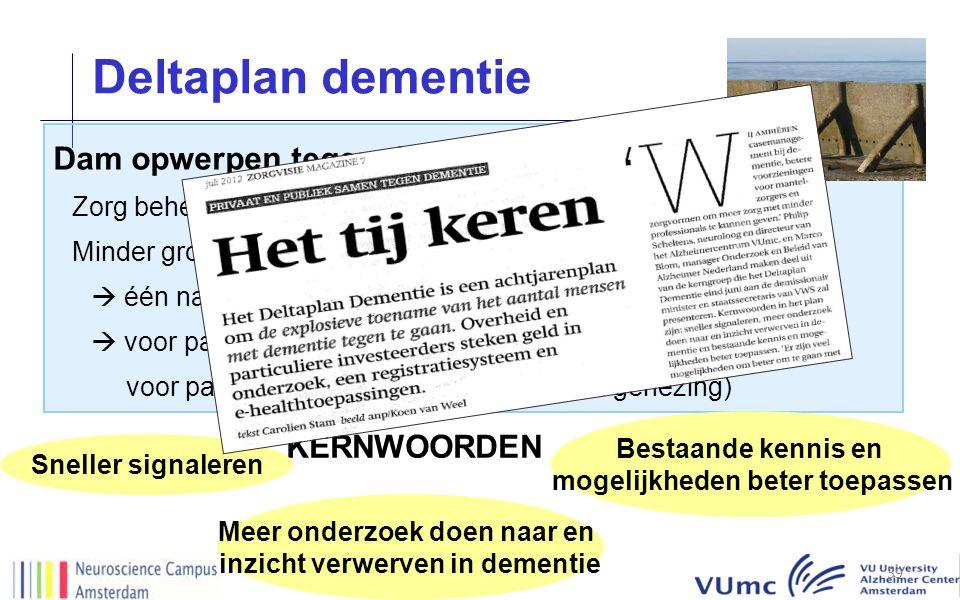 Deltaplan dementie Dam opwerpen tegen dementie KERNWOORDEN