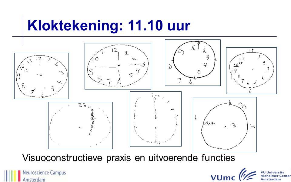 Kloktekening: 11.10 uur Visuoconstructieve praxis en uitvoerende functies