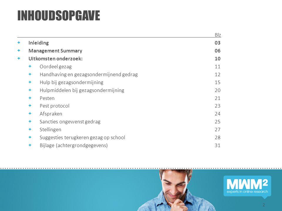 INHOUDSOPGAVE Blz Inleiding 03 Management Summary 06