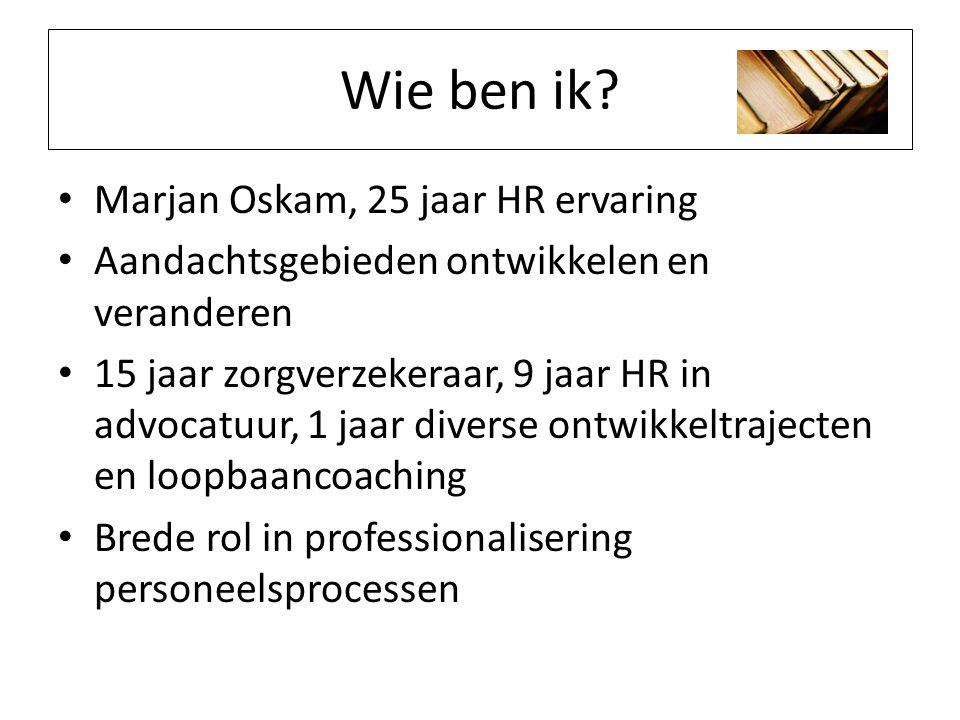 Wie ben ik Marjan Oskam, 25 jaar HR ervaring