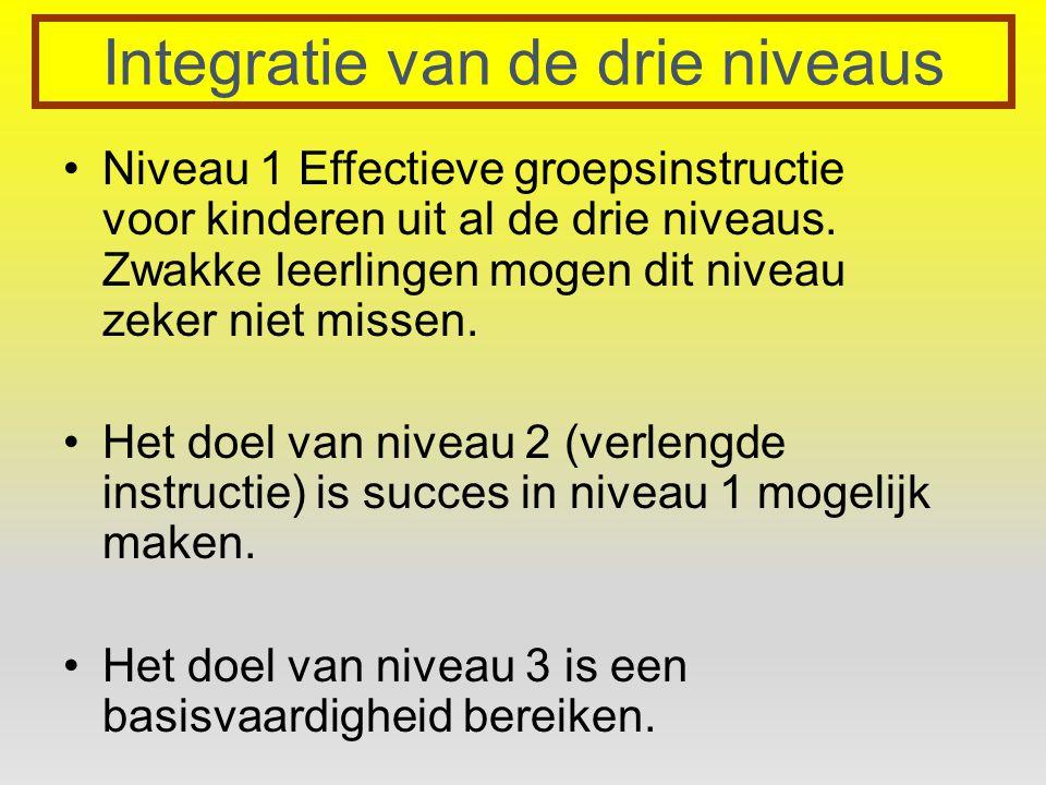 Integratie van de drie niveaus