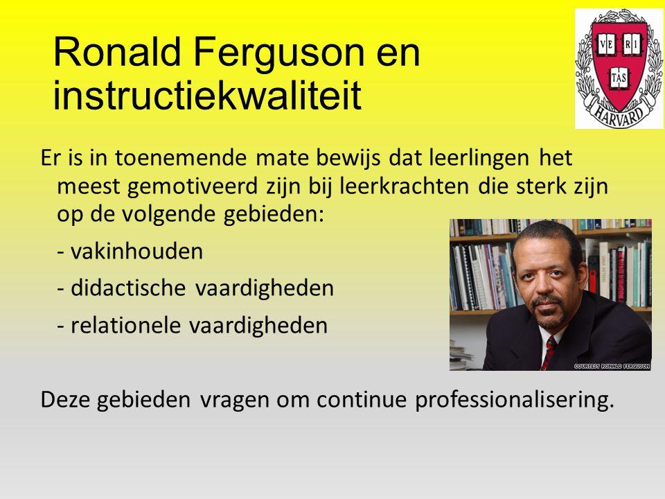 Ronald Ferguson en instructiekwaliteit