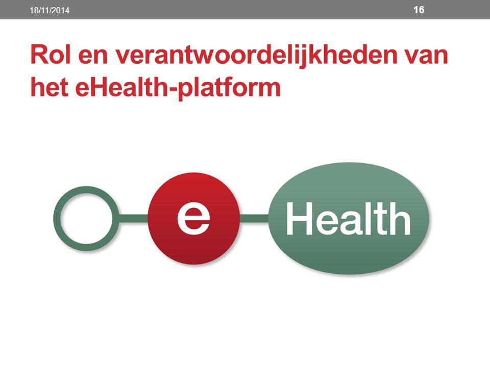 Rol en verantwoordelijkheden van het eHealth-platform