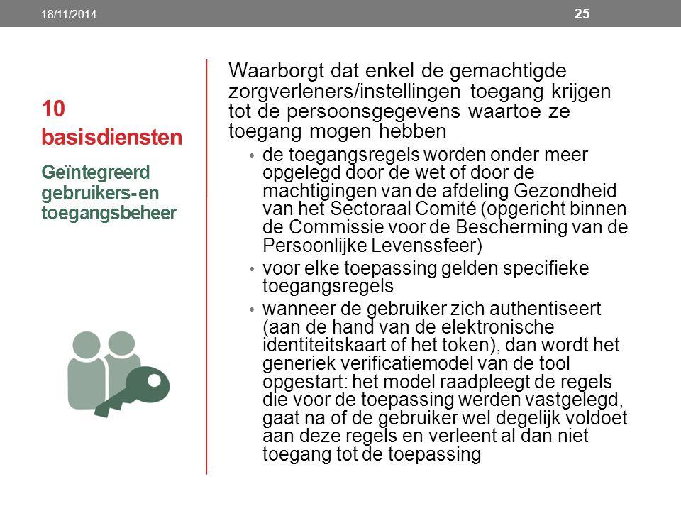 18/11/2014 10 basisdiensten.