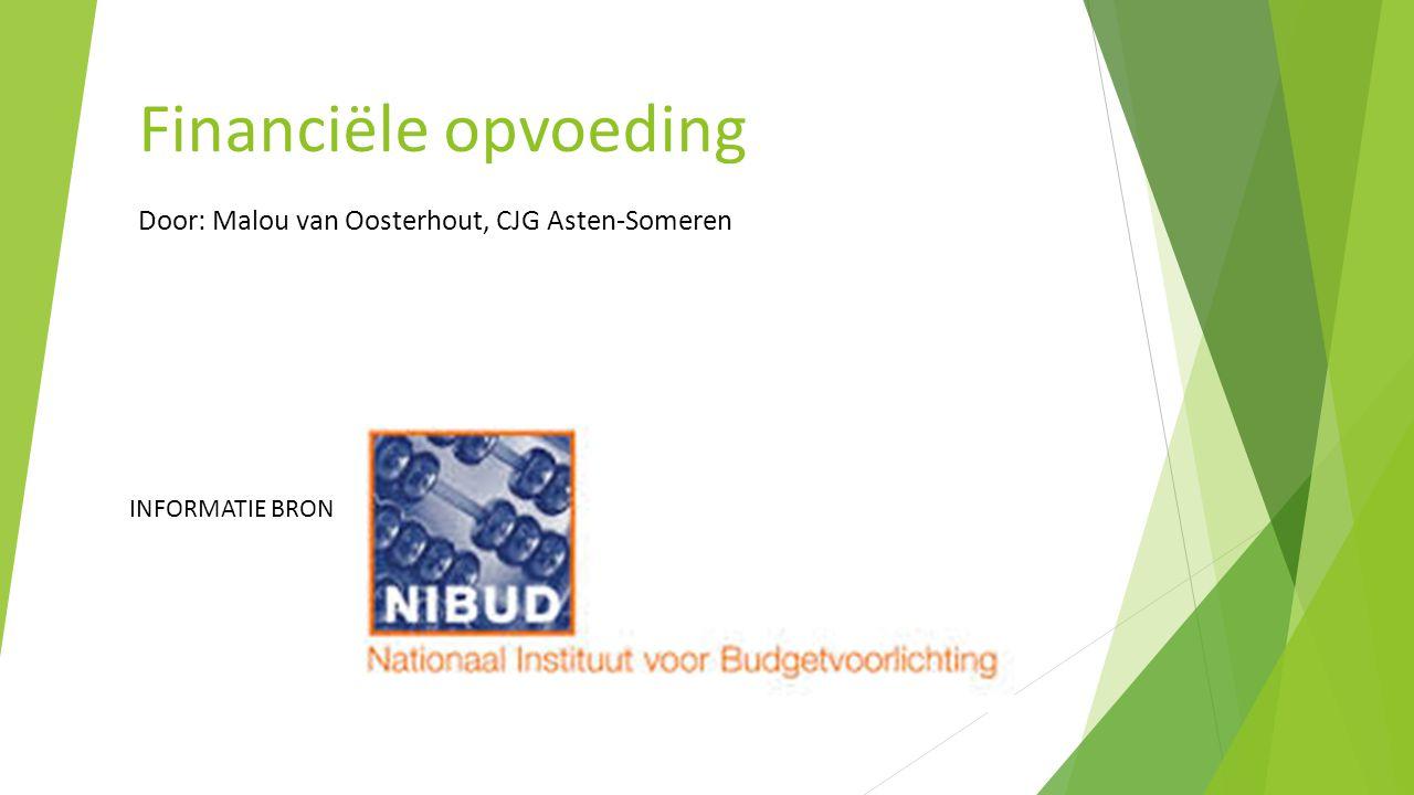 Financiële opvoeding Door: Malou van Oosterhout, CJG Asten-Someren