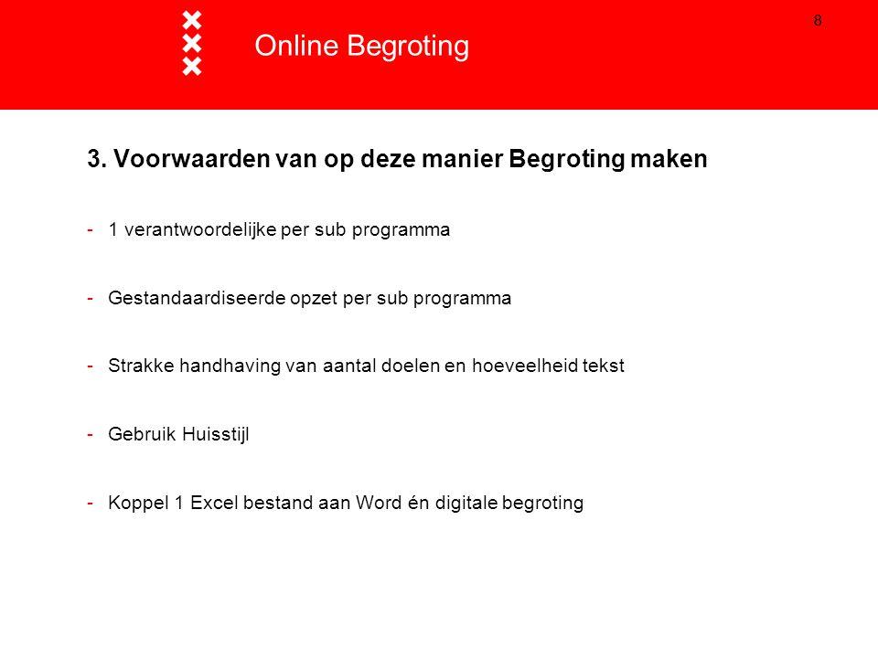 Online Begroting Titel presentatie