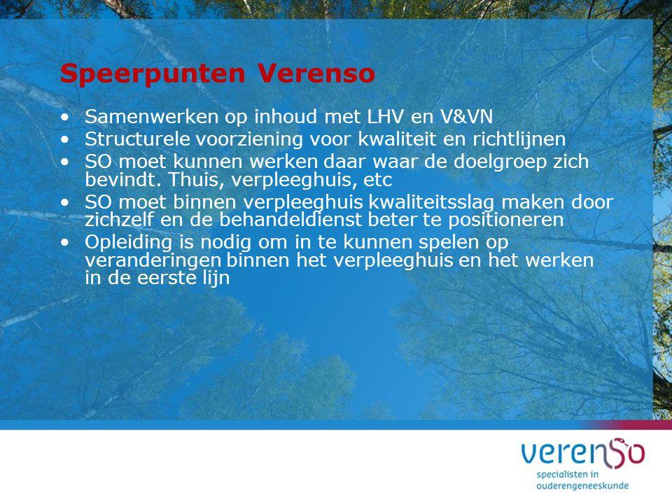 Speerpunten Verenso Samenwerken op inhoud met LHV en V&VN