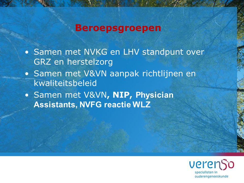 Beroepsgroepen Samen met NVKG en LHV standpunt over GRZ en herstelzorg