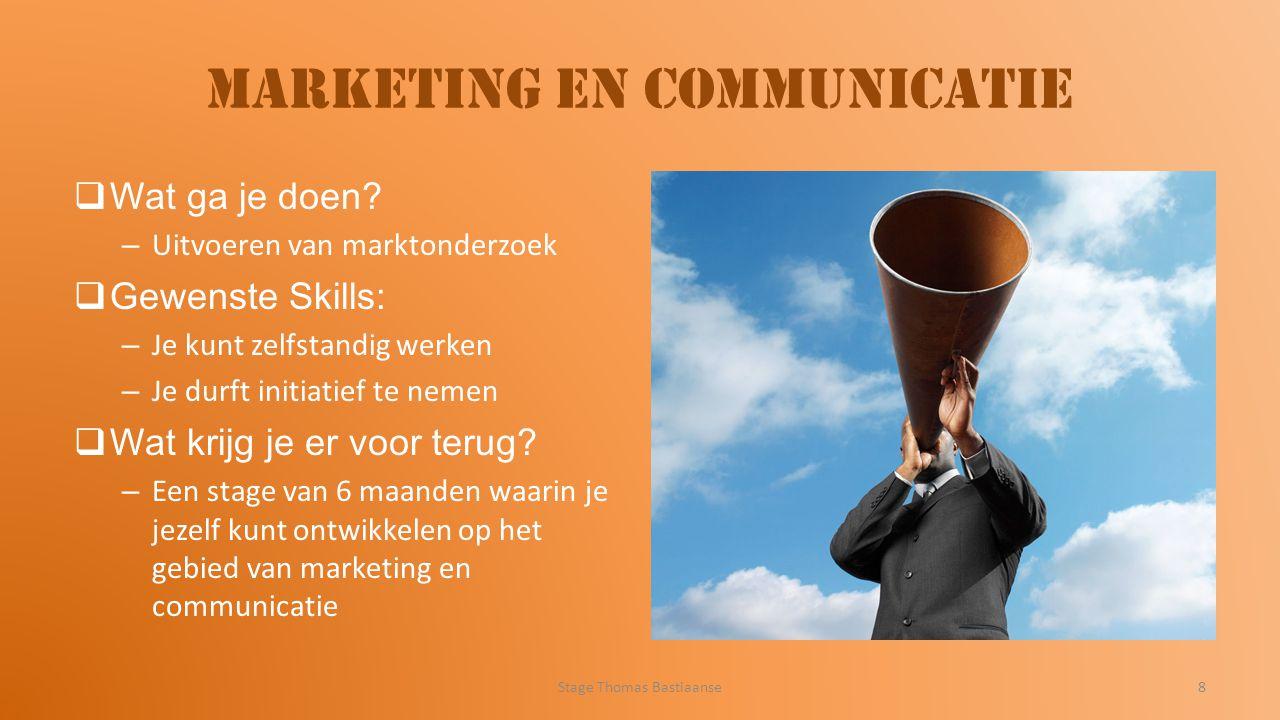 Marketing en communicatie