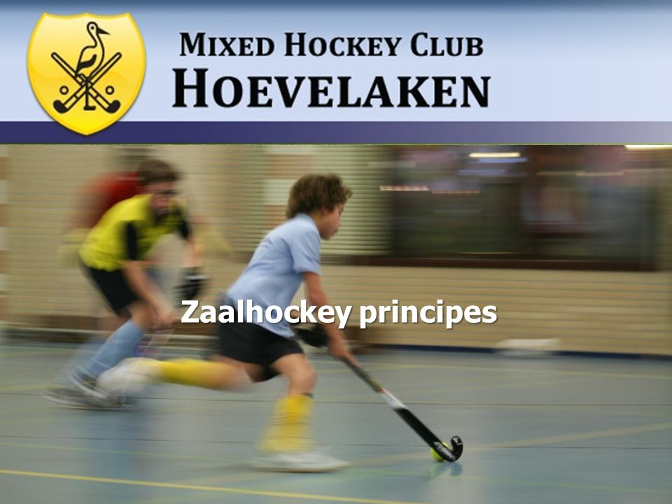 Zaalhockey principes