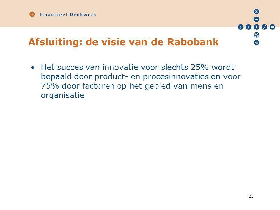 Afsluiting: de visie van de Rabobank