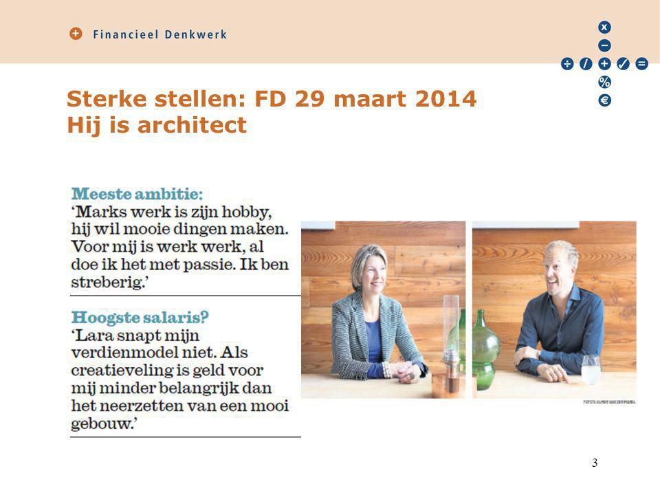 Sterke stellen: FD 29 maart 2014 Hij is architect