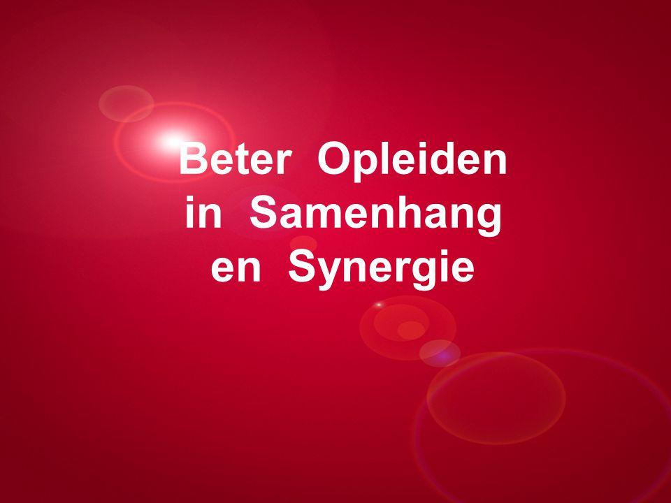 Beter Opleiden in Samenhang en Synergie Presentatie titel