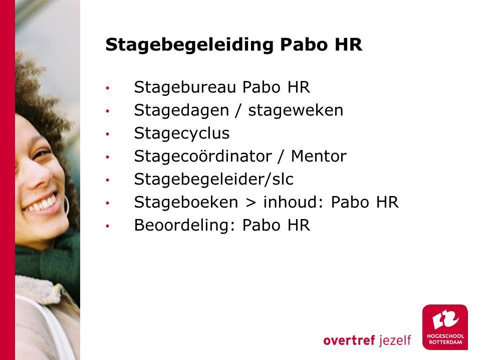 Stagebegeleiding Pabo HR