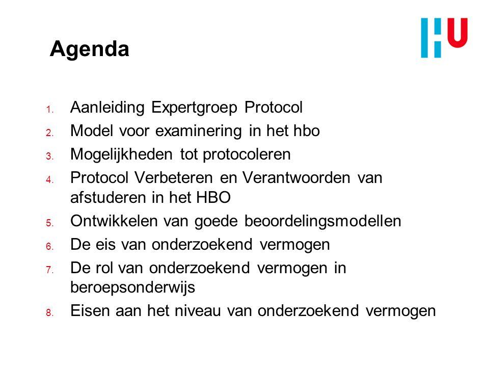 Agenda Aanleiding Expertgroep Protocol