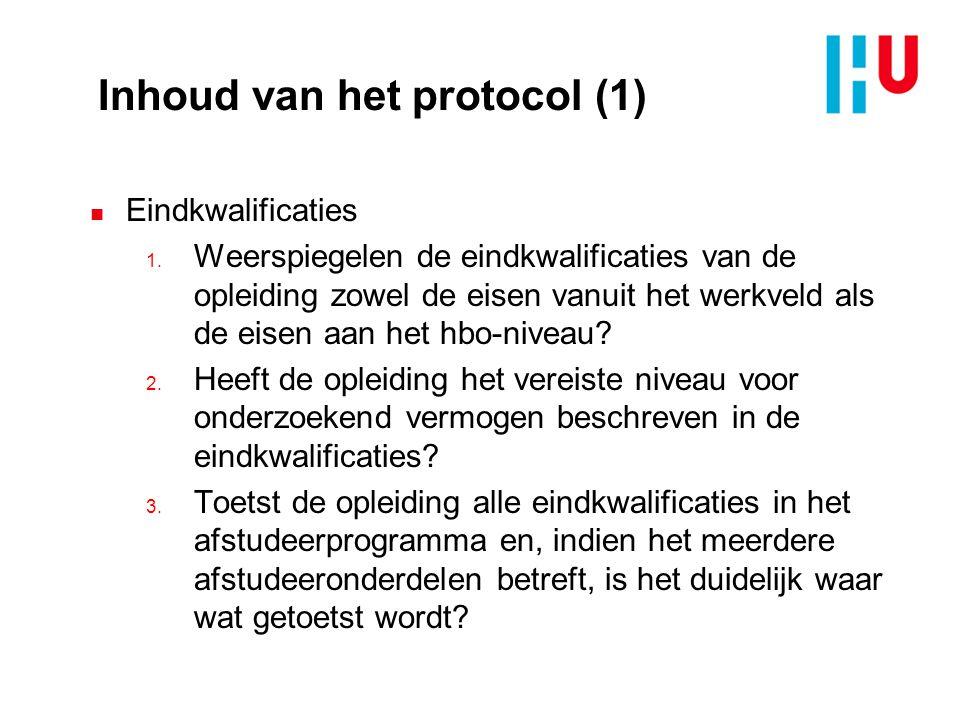 Inhoud van het protocol (1)