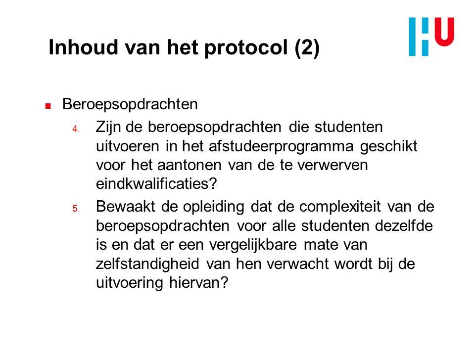 Inhoud van het protocol (2)