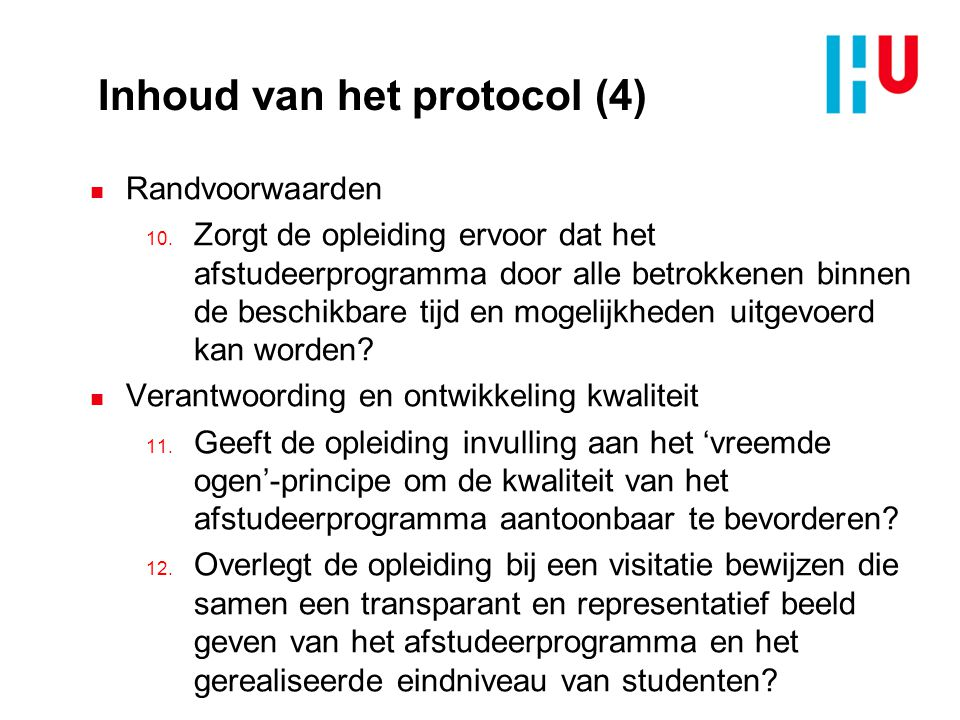 Inhoud van het protocol (4)