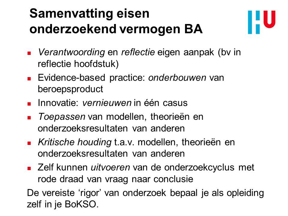 Samenvatting eisen onderzoekend vermogen BA