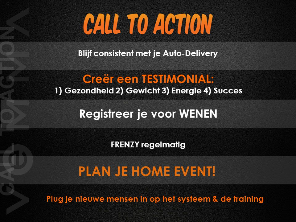 CALL TO ACTION PLAN JE HOME EVENT!