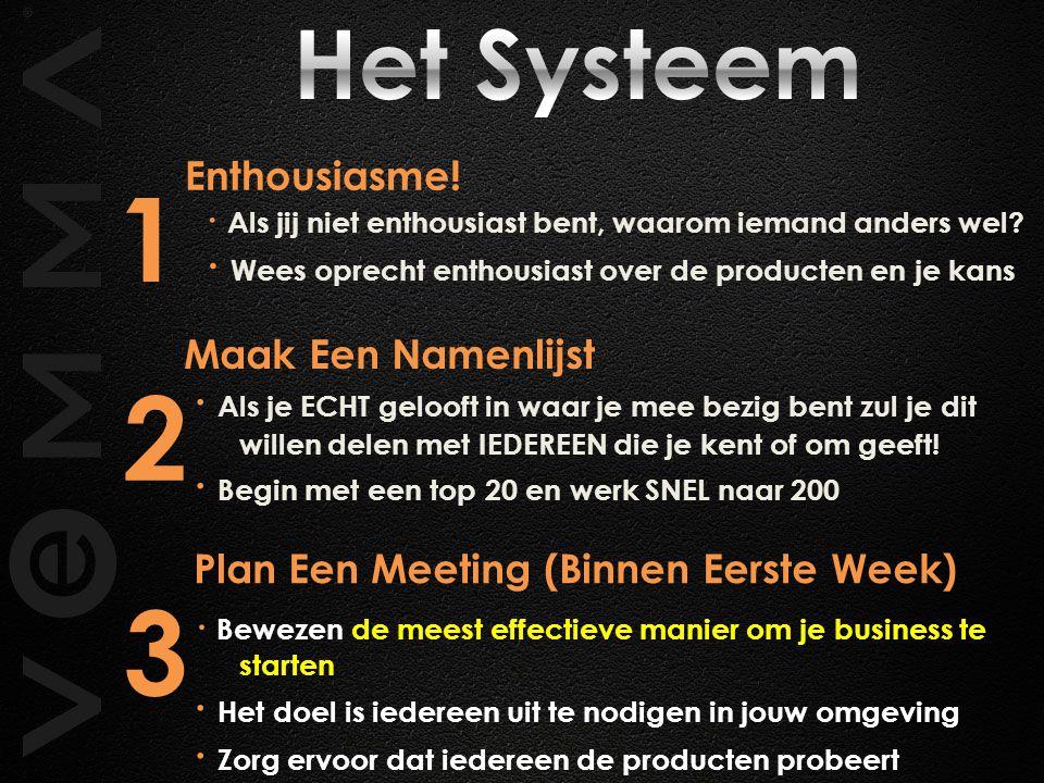 1 2 3 Het Systeem Enthousiasme!
