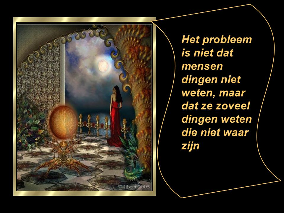 Het probleem is niet dat mensen dingen niet weten, maar dat ze zoveel dingen weten die niet waar zijn