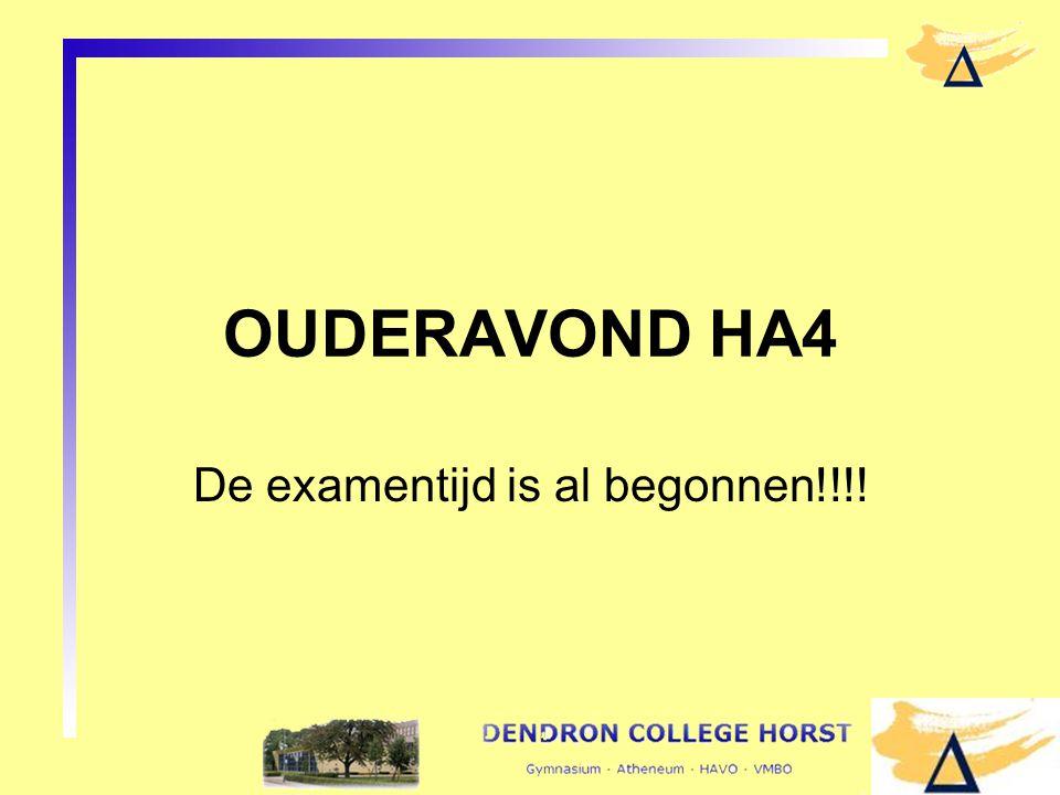 De examentijd is al begonnen!!!!