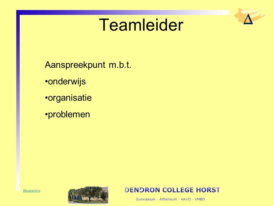 Teamleider Aanspreekpunt m.b.t. onderwijs organisatie problemen