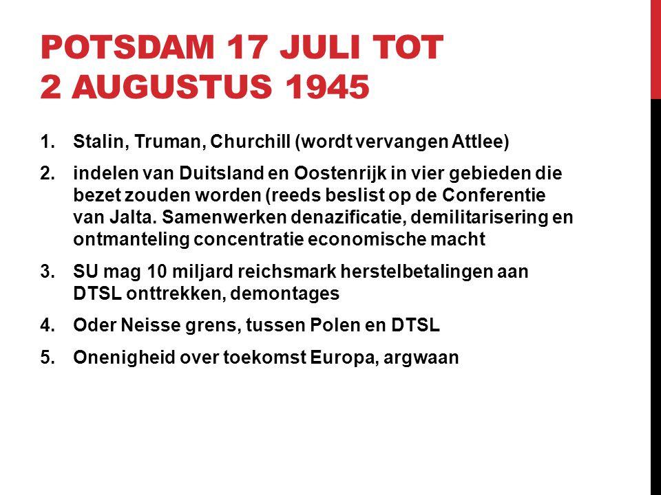 Potsdam 17 juli tot 2 augustus 1945