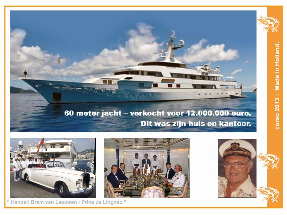 60 meter jacht – verkocht voor 12.000.000 euro.