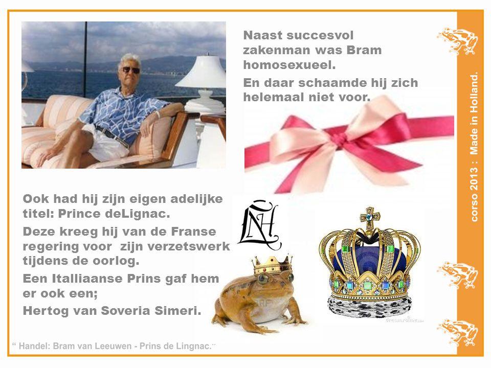 Naast succesvol zakenman was Bram homosexueel.