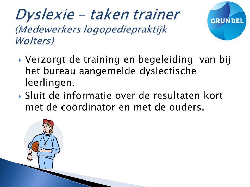 Dyslexie – taken trainer (Medewerkers logopediepraktijk Wolters)
