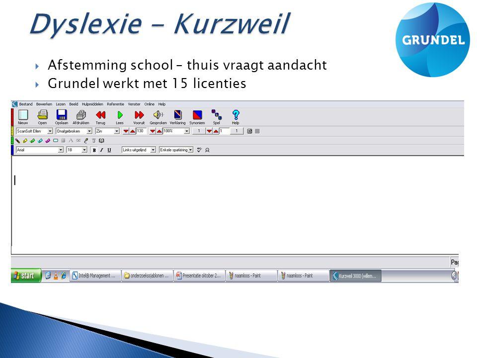 Dyslexie - Kurzweil Afstemming school – thuis vraagt aandacht