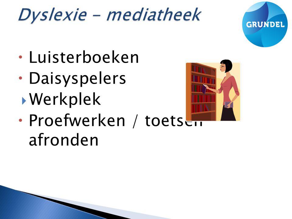 Dyslexie - mediatheek Luisterboeken Daisyspelers Werkplek