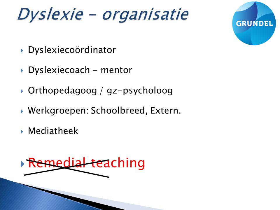 Dyslexie - organisatie