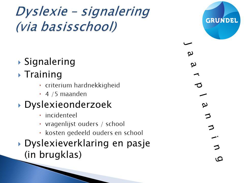 Dyslexie – signalering (via basisschool)
