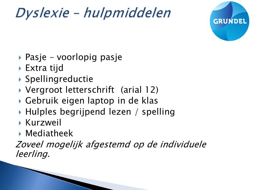Dyslexie – hulpmiddelen