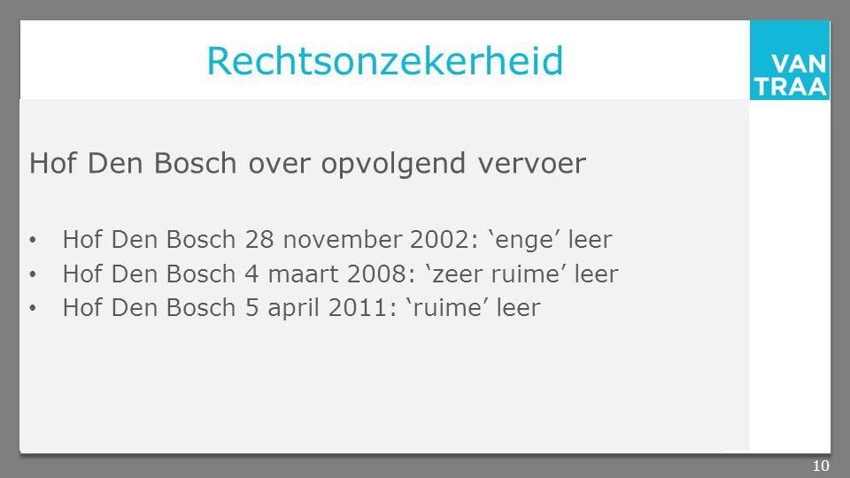 Rechtsonzekerheid Hof Den Bosch over opvolgend vervoer