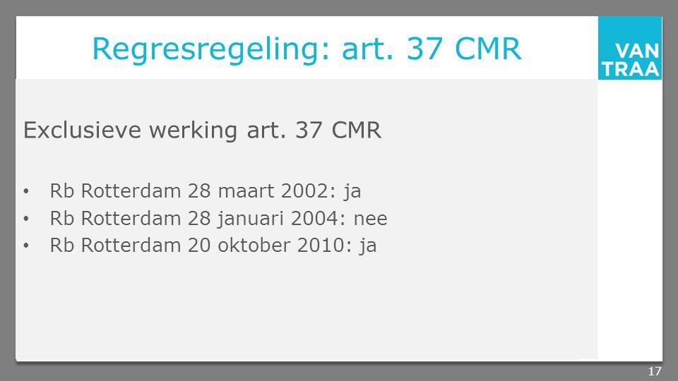 Regresregeling: art. 37 CMR