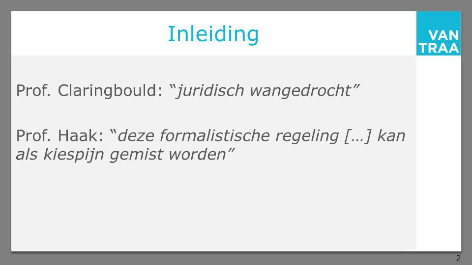 Inleiding Prof. Claringbould: juridisch wangedrocht